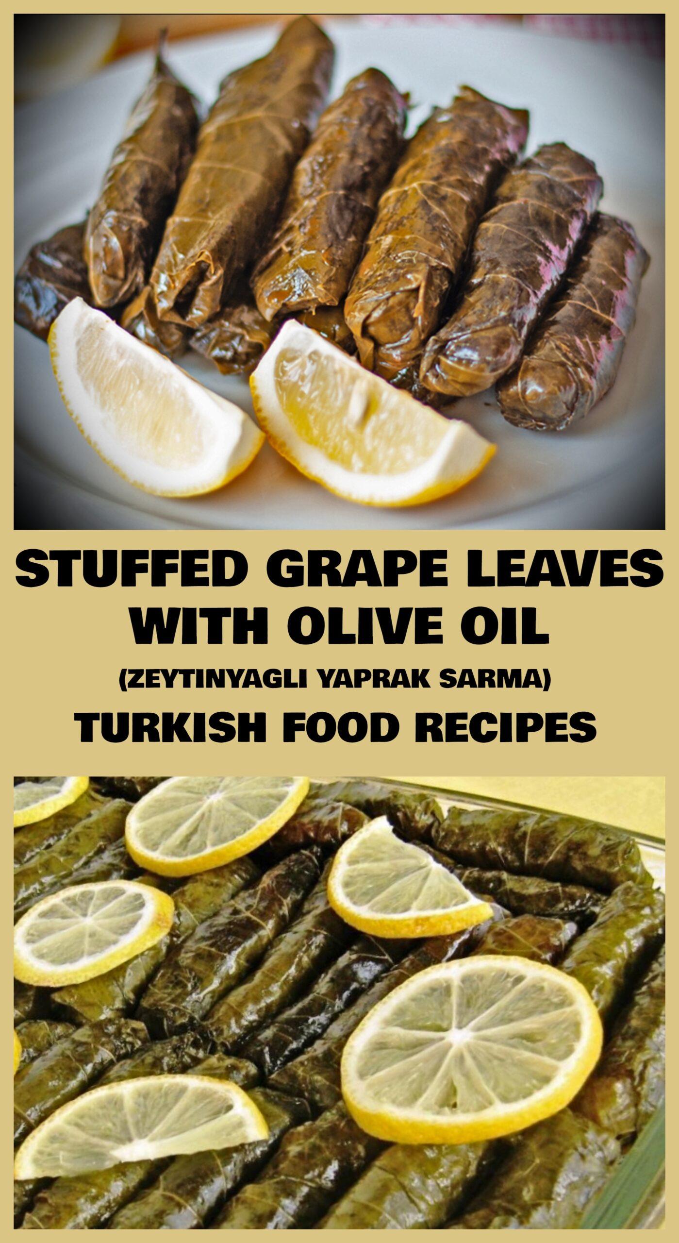 Stuffed Grape Leaves With Olive Oil - Zeytinyagli Yaprak Sarma Recipe