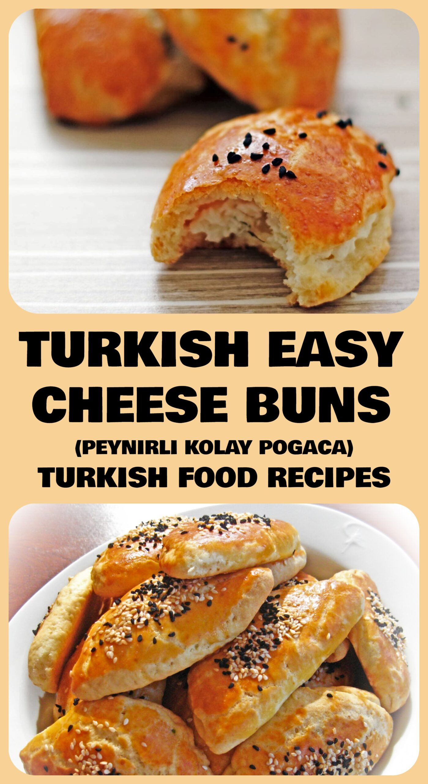 Turkish Easy Cheese Buns - Peynirli Kolay Pogaca Recipe