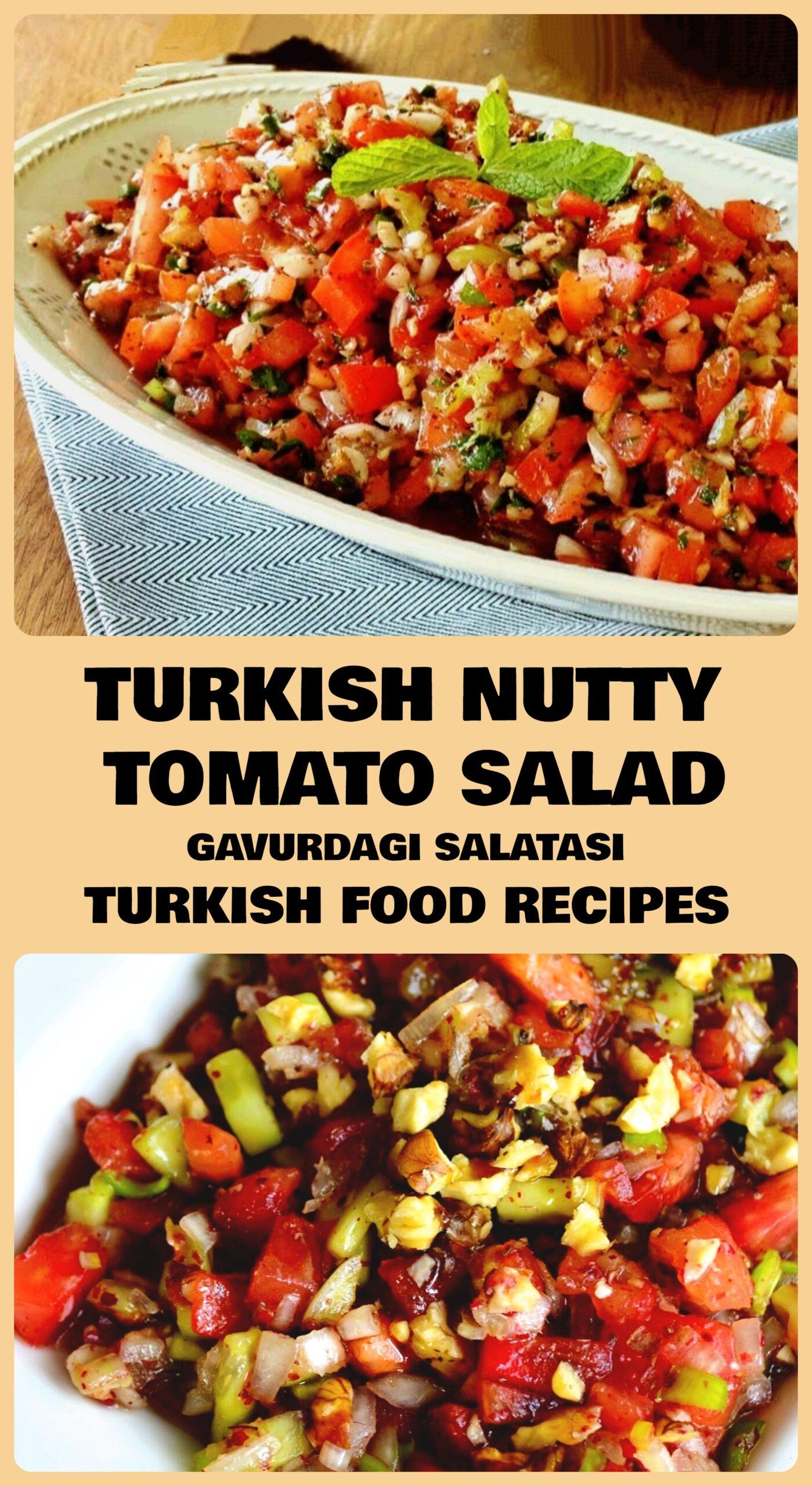 Turkish Nutty Tomato Salad - Gavurdagi Salatasi Recipe
