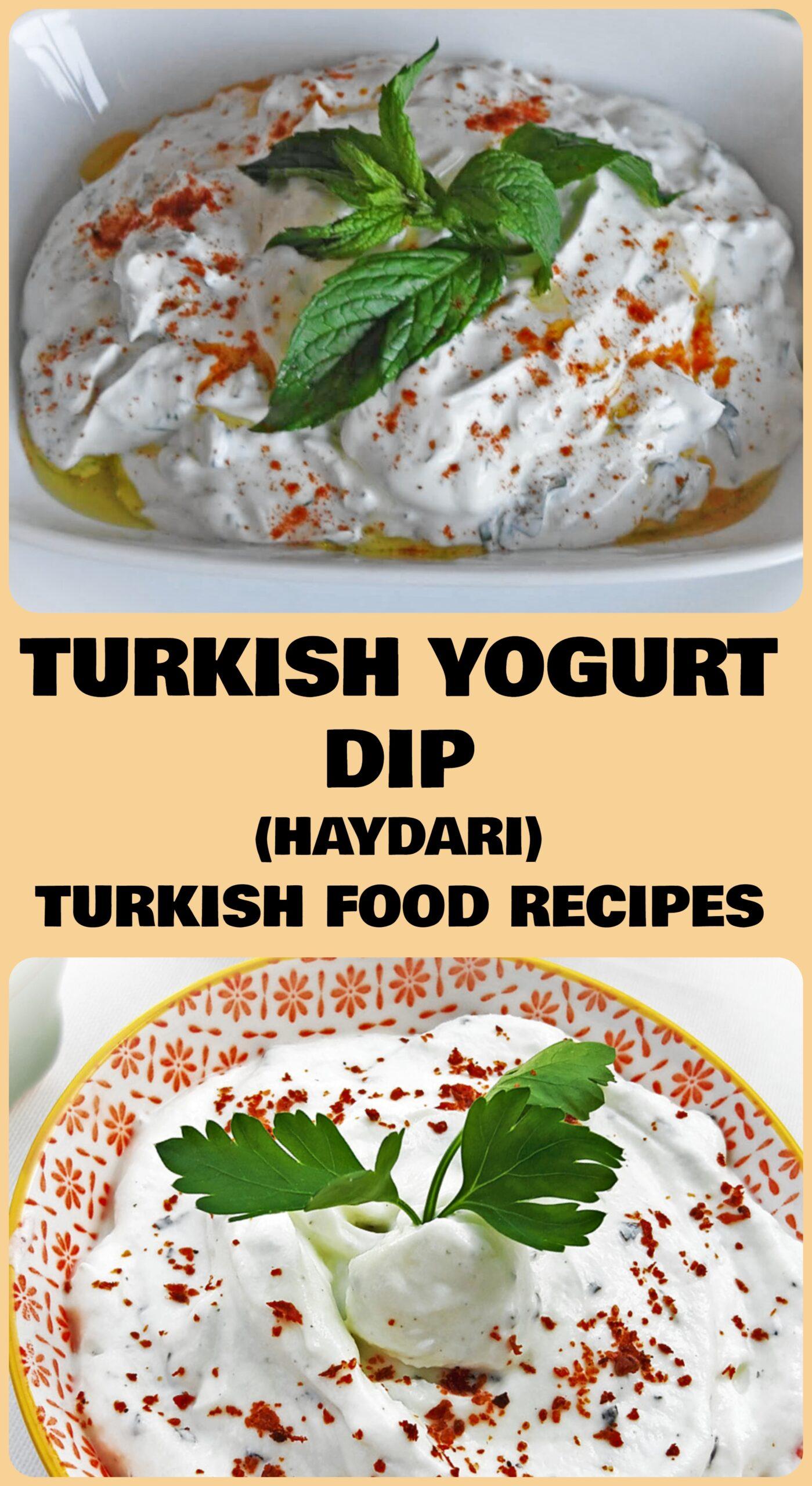 Turkish Yogurt Dip - Haydari Recipe