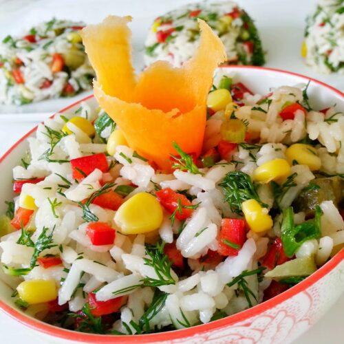 Rice Salad Recipe - Turkish Pirinc Salatasi